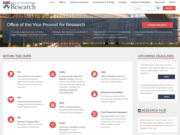 OVPR Home - Office of the Vice Provost For Research - UPenn